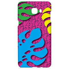 Vintage Unique Graphics Memphis Style Geometric Leaf Green Blue Yellow Pink Samsung C9 Pro Hardshell Case  by Mariart