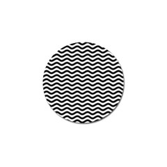 Waves Stripes Triangles Wave Chevron Black Golf Ball Marker by Mariart
