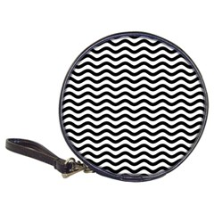 Waves Stripes Triangles Wave Chevron Black Classic 20 Cd Wallets by Mariart