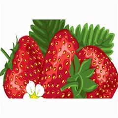 Strawberry Red Seed Leaf Green Canvas 12  X 18   by Mariart