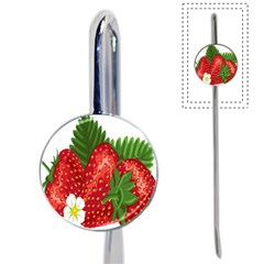 Strawberry Red Seed Leaf Green Book Mark by Mariart
