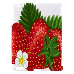 Strawberry Red Seed Leaf Green Apple Ipad 3/4 Hardshell Case (compatible With Smart Cover) by Mariart