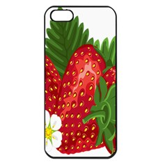 Strawberry Red Seed Leaf Green Apple Iphone 5 Seamless Case (black) by Mariart