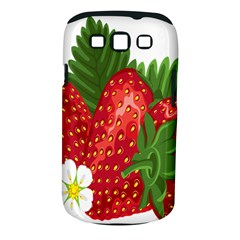 Strawberry Red Seed Leaf Green Samsung Galaxy S Iii Classic Hardshell Case (pc+silicone) by Mariart