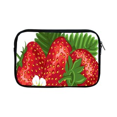Strawberry Red Seed Leaf Green Apple Ipad Mini Zipper Cases by Mariart