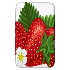 Strawberry Red Seed Leaf Green Samsung Galaxy Tab 3 (8 ) T3100 Hardshell Case  by Mariart