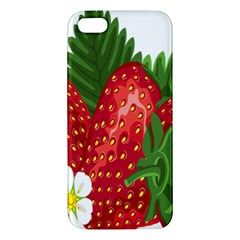 Strawberry Red Seed Leaf Green Iphone 5s/ Se Premium Hardshell Case by Mariart