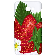 Strawberry Red Seed Leaf Green Samsung C9 Pro Hardshell Case  by Mariart