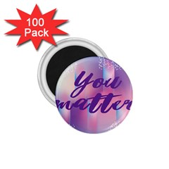 You Matter Purple Blue Triangle Vintage Waves Behance Feelings Beauty 1 75  Magnets (100 Pack)  by Mariart