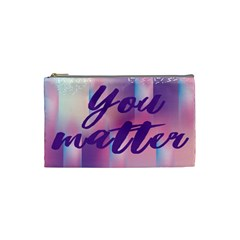 You Matter Purple Blue Triangle Vintage Waves Behance Feelings Beauty Cosmetic Bag (small)  by Mariart