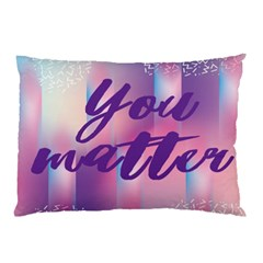 You Matter Purple Blue Triangle Vintage Waves Behance Feelings Beauty Pillow Case (two Sides) by Mariart