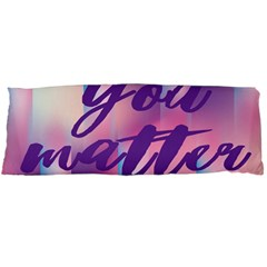 You Matter Purple Blue Triangle Vintage Waves Behance Feelings Beauty Body Pillow Case Dakimakura (two Sides) by Mariart
