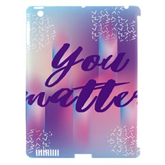 You Matter Purple Blue Triangle Vintage Waves Behance Feelings Beauty Apple Ipad 3/4 Hardshell Case (compatible With Smart Cover) by Mariart