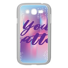 You Matter Purple Blue Triangle Vintage Waves Behance Feelings Beauty Samsung Galaxy Grand Duos I9082 Case (white) by Mariart