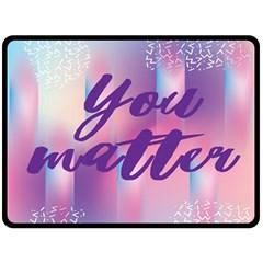 You Matter Purple Blue Triangle Vintage Waves Behance Feelings Beauty Double Sided Fleece Blanket (large)  by Mariart