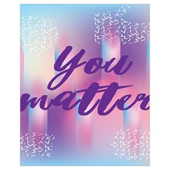 You Matter Purple Blue Triangle Vintage Waves Behance Feelings Beauty Drawstring Bag (small) by Mariart