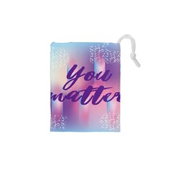 You Matter Purple Blue Triangle Vintage Waves Behance Feelings Beauty Drawstring Pouches (xs)  by Mariart