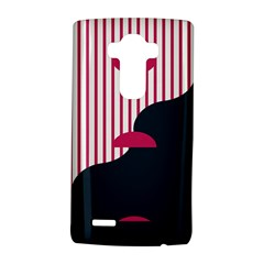 Waves Line Polka Dots Vertical Black Pink Lg G4 Hardshell Case by Mariart