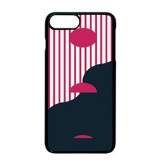 Waves Line Polka Dots Vertical Black Pink Apple Iphone 7 Plus Seamless Case (black) by Mariart