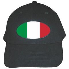 National Flag Of Italy  Black Cap by abbeyz71