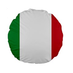 National Flag Of Italy  Standard 15  Premium Round Cushions by abbeyz71