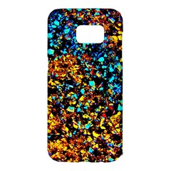 Colorful Seashell Beach Sand Samsung Galaxy S7 Edge Hardshell Case by Costasonlineshop