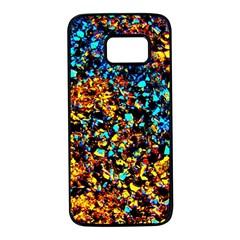 Colorful Seashell Beach Sand Samsung Galaxy S7 Black Seamless Case by Costasonlineshop