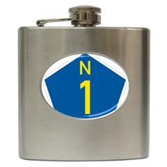 South Africa National Route N1 Marker Hip Flask (6 Oz) by abbeyz71