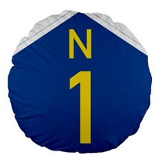South Africa National Route N1 Marker Large 18  Premium Round Cushions by abbeyz71