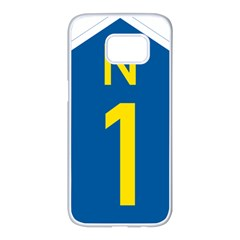 South Africa National Route N1 Marker Samsung Galaxy S7 Edge White Seamless Case by abbeyz71