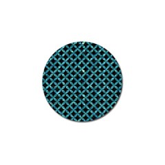 Circles3 Black Marble & Blue Green Water Golf Ball Marker (4 Pack) by trendistuff