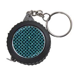 Circles3 Black Marble & Blue Green Water Measuring Tape by trendistuff