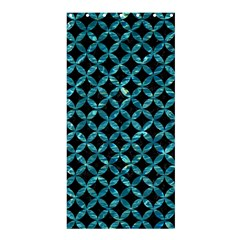 Circles3 Black Marble & Blue Green Water Shower Curtain 36  X 72  (stall) by trendistuff