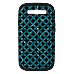 Circles3 Black Marble & Blue Green Water Samsung Galaxy S Iii Hardshell Case (pc+silicone) by trendistuff