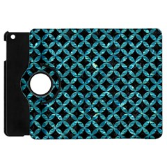 Circles3 Black Marble & Blue Green Water Apple Ipad Mini Flip 360 Case by trendistuff