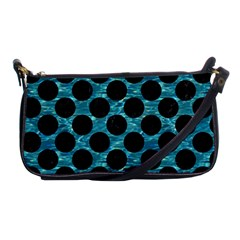 Circles2 Black Marble & Blue Green Water (r) Shoulder Clutch Bag by trendistuff