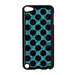 Circles2 Black Marble & Blue Green Water (r) Apple Ipod Touch 5 Case (black) by trendistuff