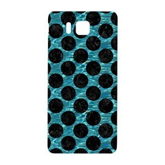 Circles2 Black Marble & Blue Green Water (r) Samsung Galaxy Alpha Hardshell Back Case by trendistuff