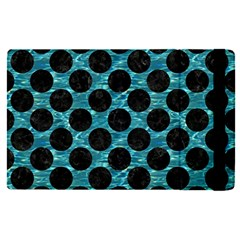Circles2 Black Marble & Blue Green Water (r) Apple Ipad Pro 12 9   Flip Case by trendistuff
