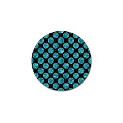 Circles2 Black Marble & Blue Green Water Golf Ball Marker (4 Pack) by trendistuff