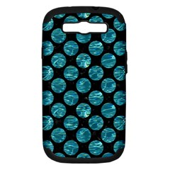Circles2 Black Marble & Blue Green Water Samsung Galaxy S Iii Hardshell Case (pc+silicone) by trendistuff