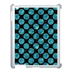 Circles2 Black Marble & Blue Green Water Apple Ipad 3/4 Case (white) by trendistuff