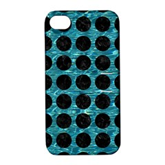 Circles1 Black Marble & Blue Green Water (r) Apple Iphone 4/4s Hardshell Case With Stand by trendistuff