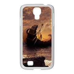 Steampunk Fractalscape, A Ship For All Destinations Samsung Galaxy S4 I9500/ I9505 Case (white) by jayaprime
