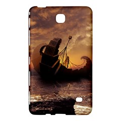 Steampunk Fractalscape, A Ship For All Destinations Samsung Galaxy Tab 4 (7 ) Hardshell Case  by beautifulfractals