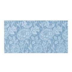 Vintage Morris Floral Blue Satin Wrap