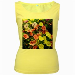 Lovely Flowers 17 Women s Yellow Tank Top by MoreColorsinLife