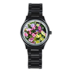 Lovely Flowers 17 Stainless Steel Round Watch by MoreColorsinLife