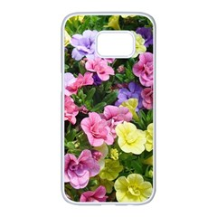 Lovely Flowers 17 Samsung Galaxy S7 Edge White Seamless Case by MoreColorsinLife