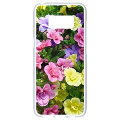 Lovely Flowers 17 Samsung Galaxy S8 White Seamless Case by MoreColorsinLife